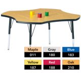 Berries® Adjustable Activity Table, Classic, 48 Four Leaf, Oak