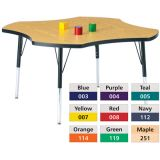 Berries® Adjustable Activity Table, Prism, 48 Four Leaf, Orange