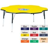 Berries® Adjustable Activity Table, Prism, 60 Six Leaf, Blue