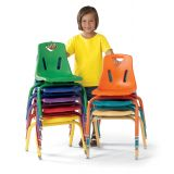 Berries® Plastic Chair with Powder-Coated Legs, 16 seat height
