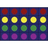 Lots of Dots™ Rug, 10'9 x 13'2 (30 dots), Primary