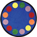 Lots of Dots® Rug, 13'2 Round (20 dots), Primary