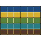 Blocks Abound® Rug, 10'9 x 13'2 Rectangle, Earthtone