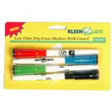 Student Markers with Erasers, Black, Pack of 24