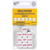 Spanish Dice, Interrogative Words, Set of 10