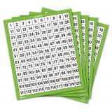 Laminated 1-120 Number Board