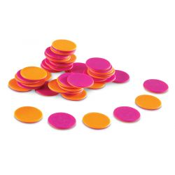 Two-Color Counters, Brights, Set of 200