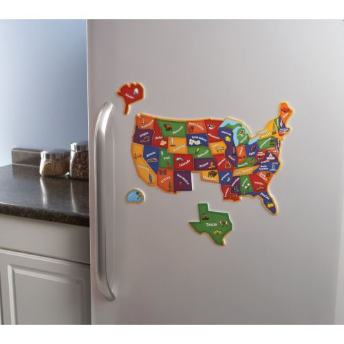 Magnetic US Map Puzzle LER - Magnetic us map