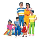 Hispanic Family Flannelboard Set, Pre-cut