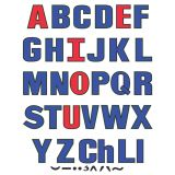 Uppercase Flannelboard Letters, 2 Sets and symbols, 58 pieces