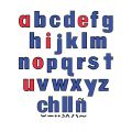 Lowercase Flannelboard Letters, 2 Sets and symbols, 60 pieces