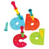 Tall-Stackers™ A-Z Pegboard Set, Lowercase