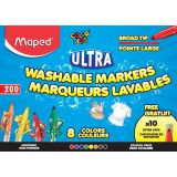 Ultra-Washable Broad Tip Markers Classpack, 200 colors
