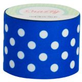 Snazzy Tape, Blue/White Polka Dots