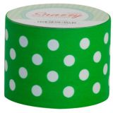 Snazzy Tape, Green/White Polka Dots