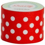 Snazzy Tape, Red/White Polka Dots
