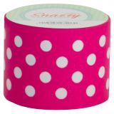 Snazzy Tape, Pink/White Polka Dots