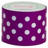 Snazzy Tape, Purple/White Polka Dots