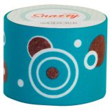 Snazzy Tape, Brown Graphic Circles on Turquoise