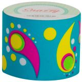 Snazzy Tape, Paisley on Turquoise