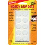 Hook 'n Loop, 5/8 Dots, 60 sets