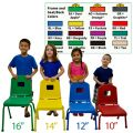 Creative Colors® Split Bucket Chair, 10