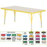 Creative Colors® Activity Table, 30 x 60 Rectangle