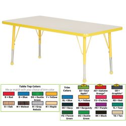 Creative Colors® Activity Table, 18 x 36 Rectangle