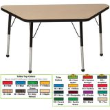 Creative Colors® Activity Table, 30 x 60 Trapezoid