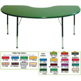 Creative Colors® Activity Table, 48 x 72 Kidney