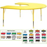 Creative Colors® Activity Table, 60 x 66 Horseshoe