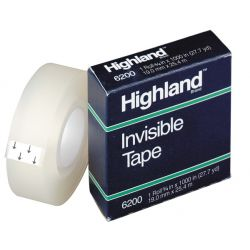 Highland™ Invisible Tape, 1/2 x 1296