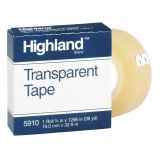 Highland™ Transparent Tape, 3/4 x 36 yds, 1 core