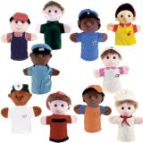 Community Helper Puppets, Set of 10