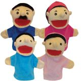 Family Puppets, Hispanic, Set of 4