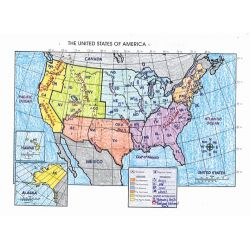 The United States Map Activity Poster