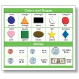 Adhesive Desk Prompts, Colors, Shapes, Money