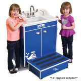 Lil' Splasher 28 Portable Sink, ABS Single Basin and Top, Blue Splash
