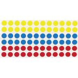 Round Color Coding Labels, 3/4, 1000/bx, White Only
