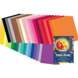 Tru-Ray® Fade-Resistant Construction Paper, 9 x 12, Holiday Red