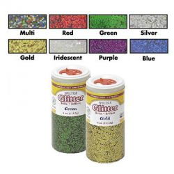 Spectra® Glitter Sparkling Crystals, 4 oz., Red