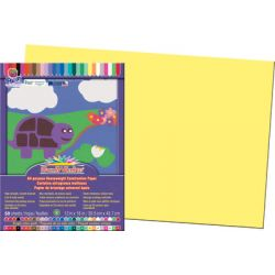 SunWorks® Construction Paper, 12 x 18, Yellow
