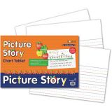 Chart Tablet, 24 x 16, 1 1/2 Ruled with 7 Picture Story Space