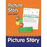 Chart Tablet, 24 x 32, 1 1/2 Ruled with 7 Picture Story Space