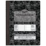 Dual Ruled Composition Book, White pages