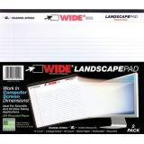 Legal Pad, Landscape, White 2-Pack