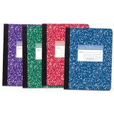 Marble Composition Book, Assorted Colors