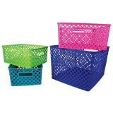 Woven Basket, Small, Hot Pink