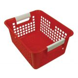 Tattle® Book Basket with Label Holder, Red
