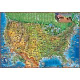 Children's Illustrated Dino's Map, Map of the USA
